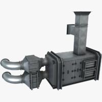 air handling unit 3d max