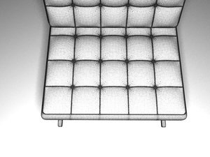 3d model simple sofa