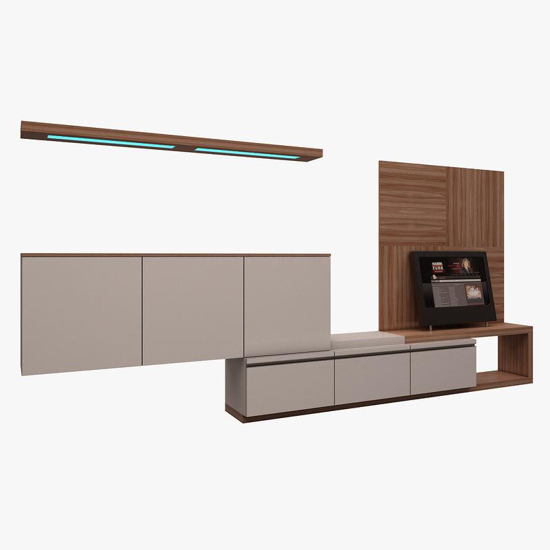 tv unit casa 3d model