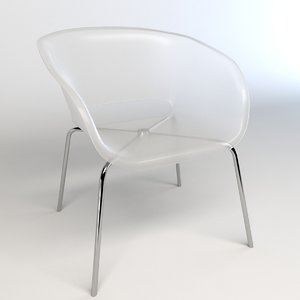 3d transparent chair model