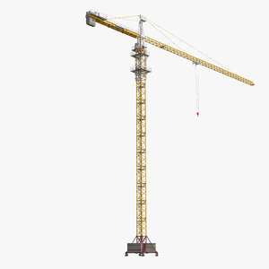 3d tower crane liebherr modeled model
