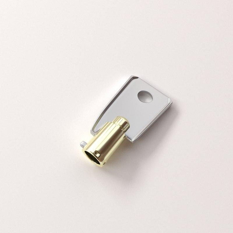 3d model tubular key