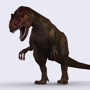 - allosaurus 3drt 3d 3ds