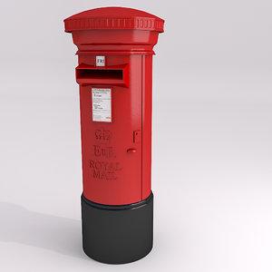 3d model pillar box