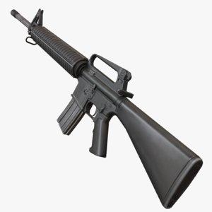 3d m16a2 rifle model