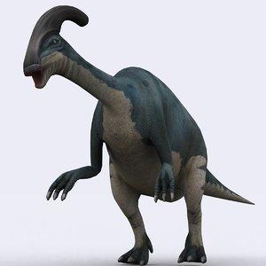 3d model - parasaurolophus