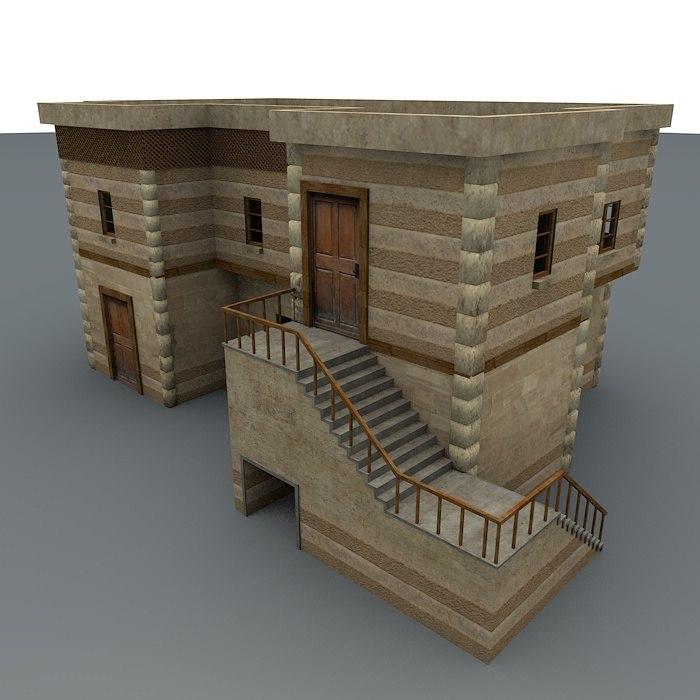 3d model desert house games