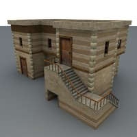 3d model desert house games