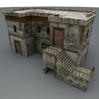 3d model abandoned house games
