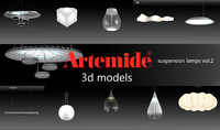 3d artemide suspension lamps vol 2