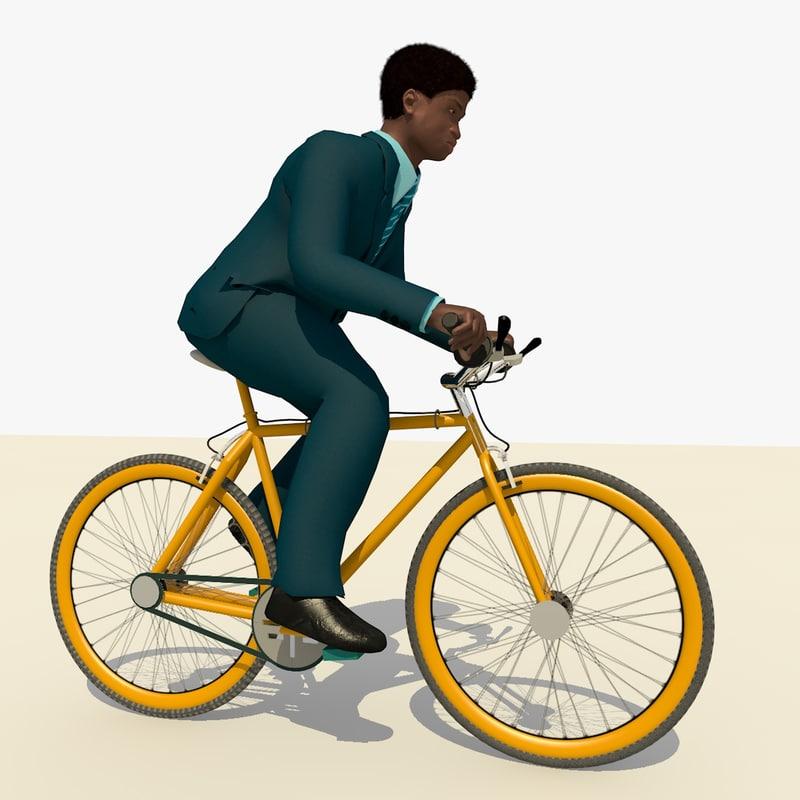 business man blue suit 3d c4d