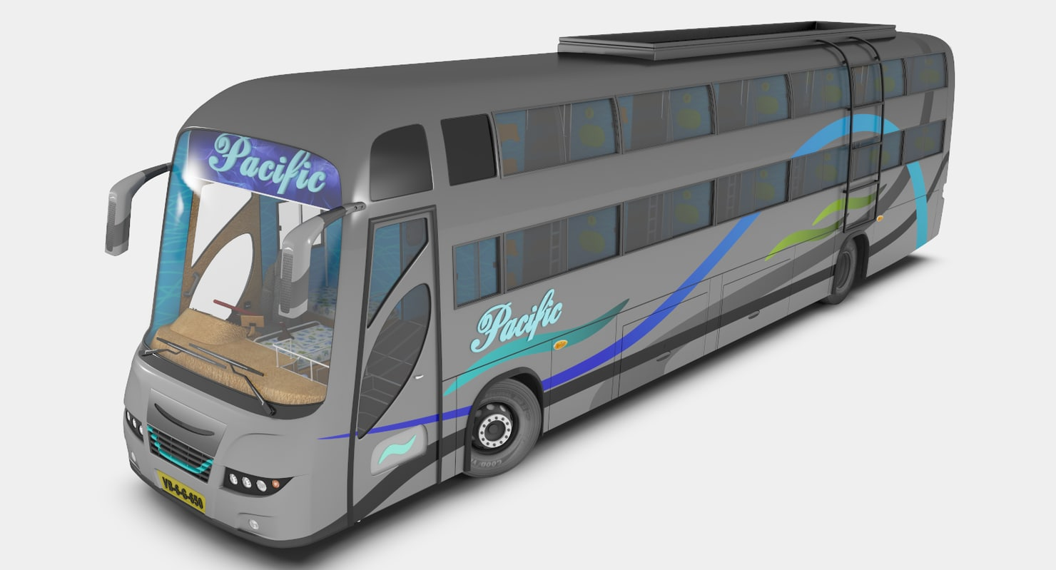 sleeping coach bus 3d max
