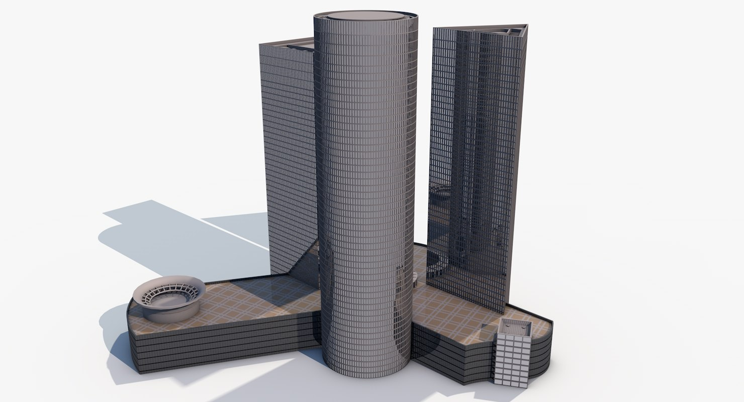 azrieli towers 3d 3ds