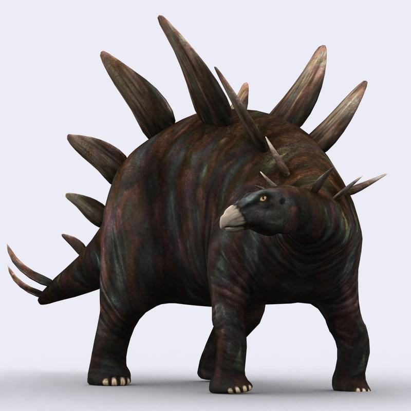 3d model of - stegosaurus