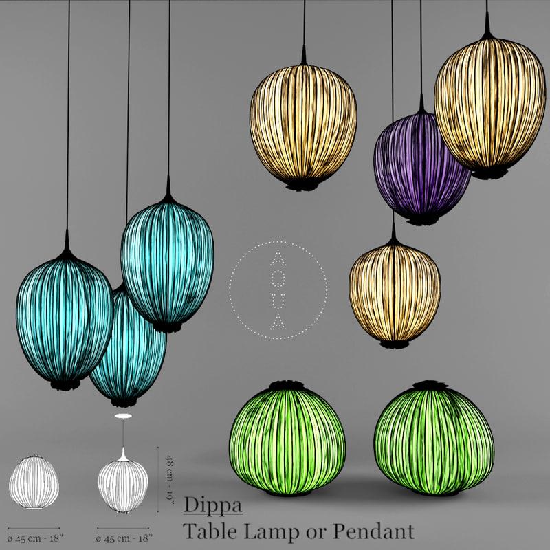 3d model aqua creations lamp