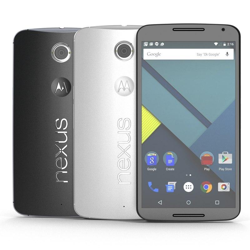 Google Nexus 6 3D Models Set