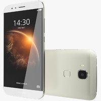 3d model realistic huawei g8 white
