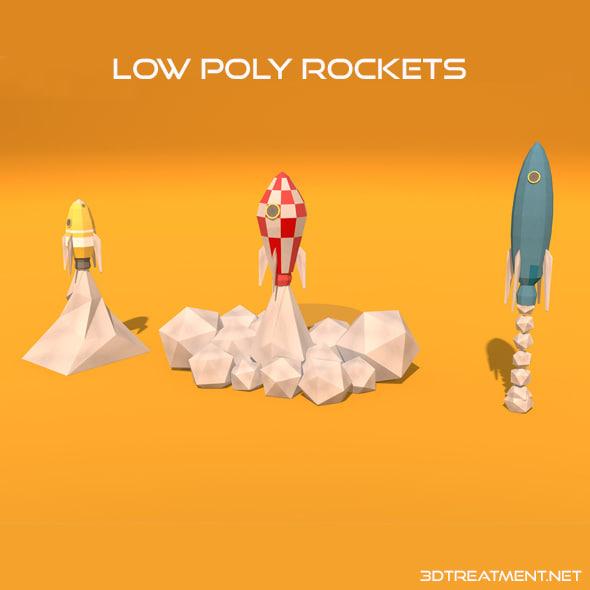 3d model rockets