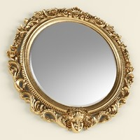 Classic round mirror