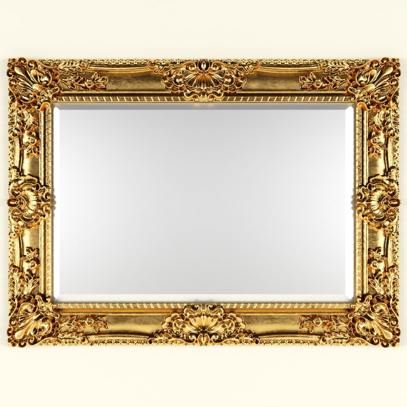 3d classic style mirror