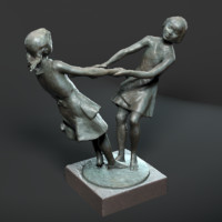 3d model statue friendship petersburg