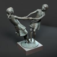 Statue of dancing girls