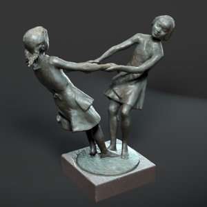3d model statue friendship petersburg