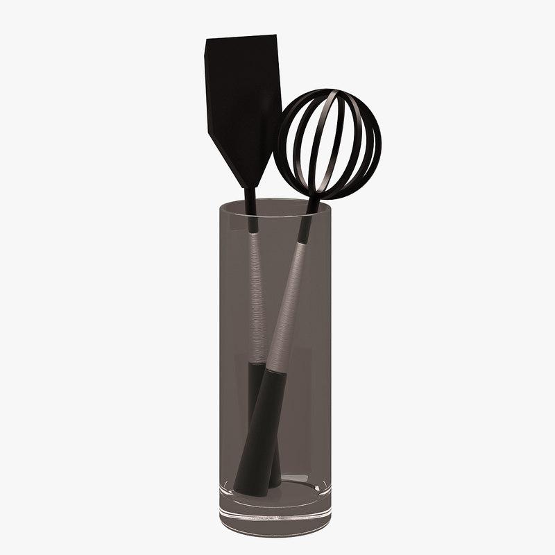 kitchen accessorie 3d obj