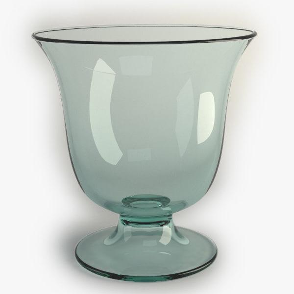 3d glass table vase model