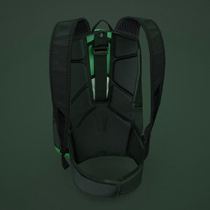 3d model sporting backpack