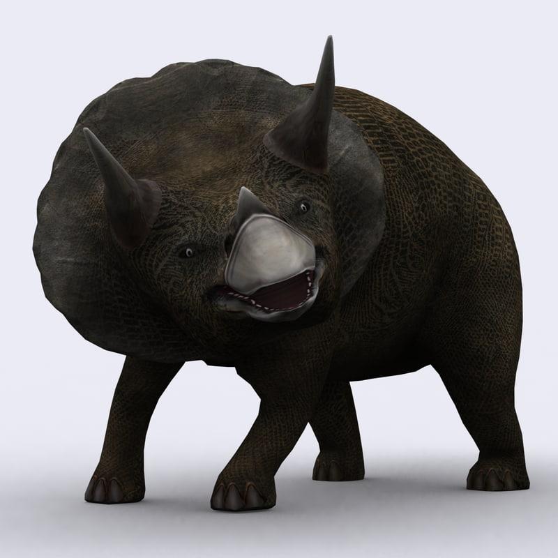 3d - triceratops model