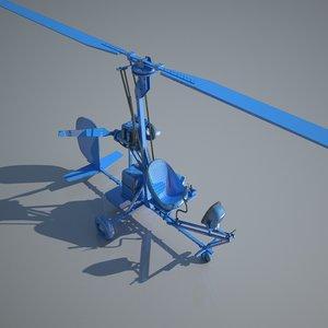 3ds bensen b-8 gyrocopter