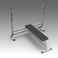 bench fitness 3d fbx