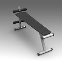 3d gym bench model