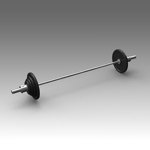 weight training 3d fbx