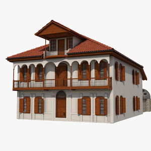 3d traditional ottoman house adana