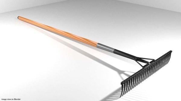 3d model garden rake