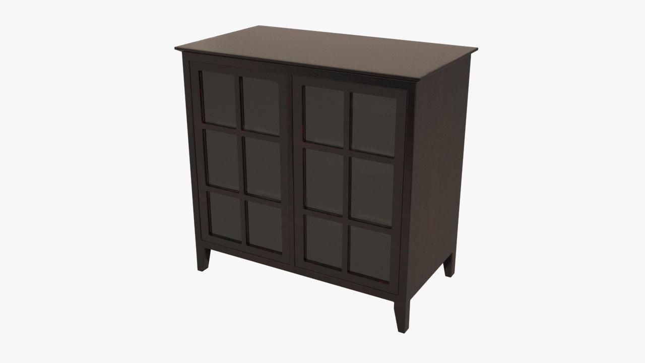 3ds max 2 door cabinet