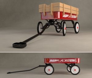 radio flyer wagon 3d obj