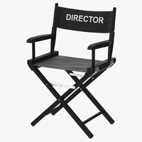 3d director chair black model