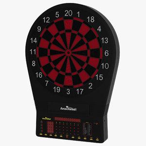 3d electronic dartboard model