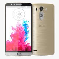 3d model lg g3 gold