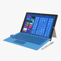 microsoft surface pro 3 3d model