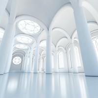 max classic interior scene building