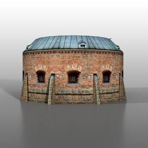 3dsmax brest fortress