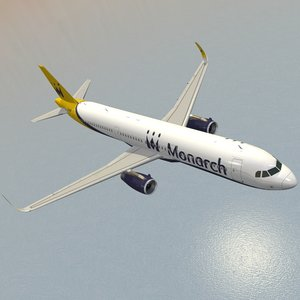 max sharkleted a321neo monarch airlines