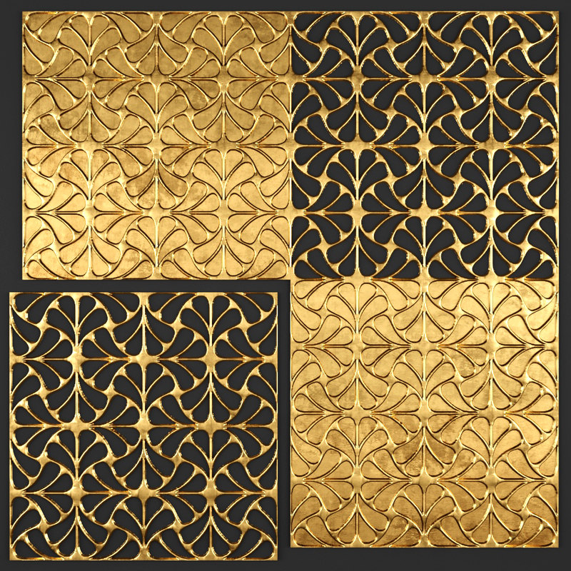 3d model decor wall panel
