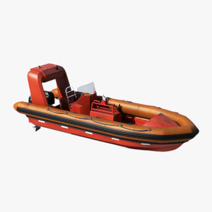 fast boat rigid inflatable 3d 3ds