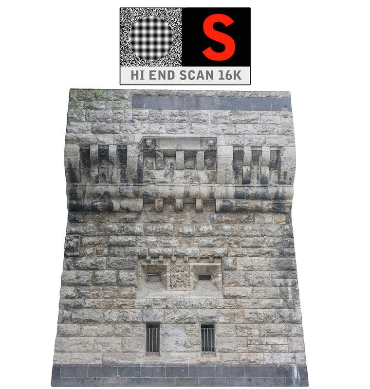 3d model walls medieval