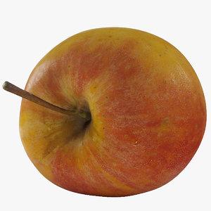 photorealistic apple 3d max